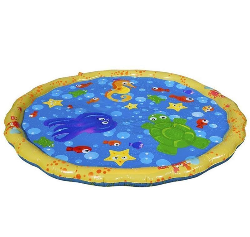 Kids Play Mats Outdoor Inflatable Sprinkler Pads Water Fun Spray Mat Splash Water Mats Toddler Baby Swimming Pool EWC403