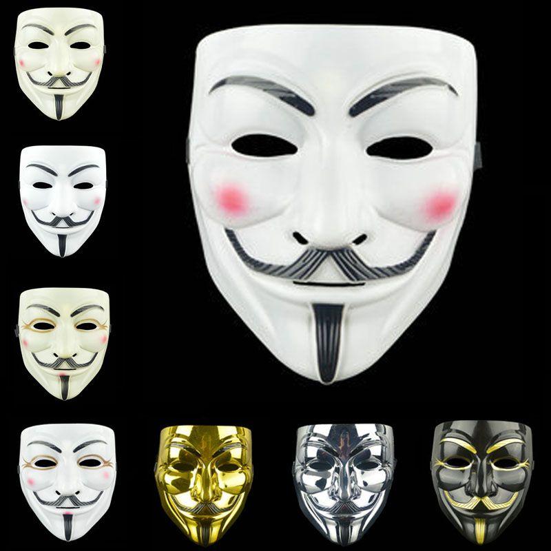 Adult Party Cosplay Full Face Mask la mascherina di faida di Halloween Anonymous Terror mascherine del partito operato da Halloween Cosplay Bianco Giallo Maschera BH2416 TQQ