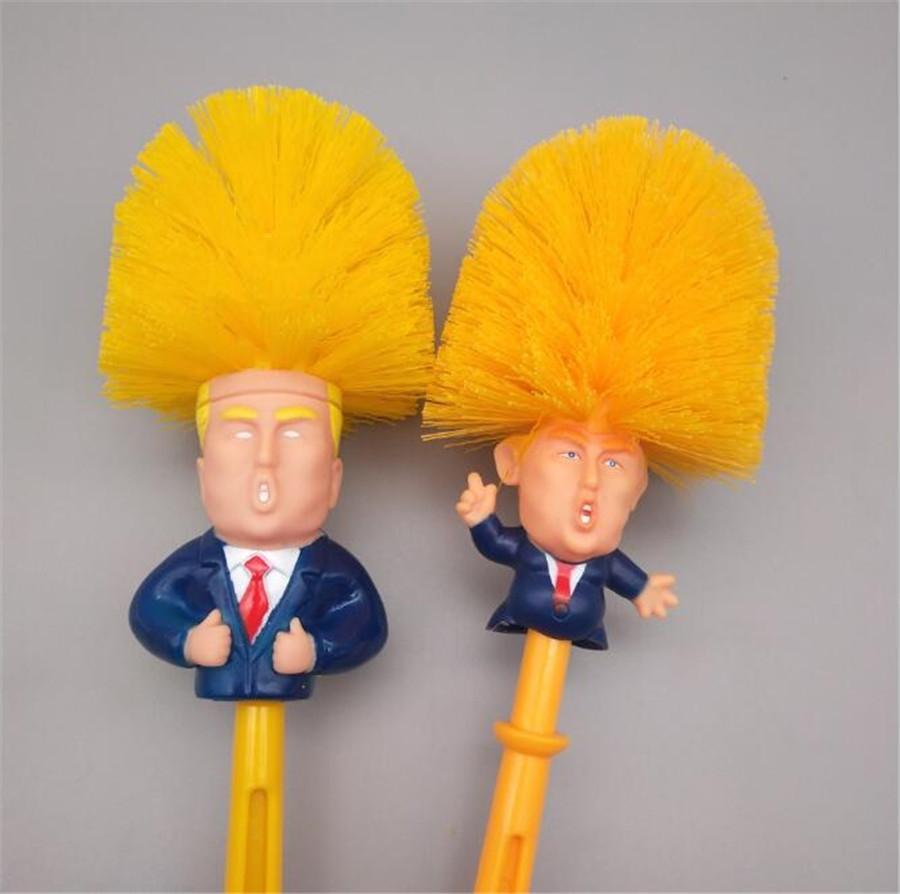 Aseo de silicona Trump cepillo con cerda suave del baño inodoro Trump Cepillo Y Juego de soporte construido con materiales duraderos termo plástico limpio # 829
