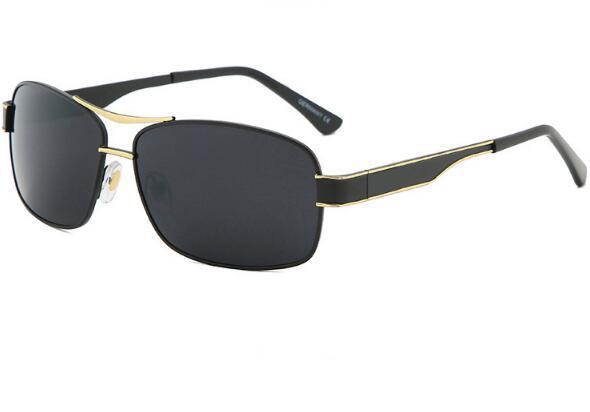 Occhiali da sole casuale classico quadrati commerciali degli occhiali da sole da uomo alla moda New Metal gli occhiali da sole di moda