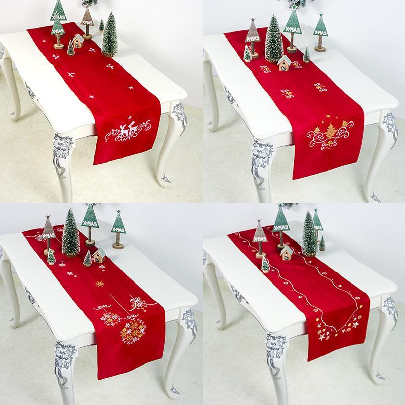 New Year 2020 2119 Christmas Table Cloth Dinner Party Ornaments Noel Christmas Tablecloth Decoration for Home Aaornos De Navidad