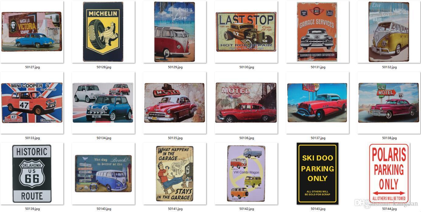 Metal Lata Sinais Carro Motocicleta Motocicleta Reparação de Loja Poster Vintage Motor Placas De Ferro Decorativo Placas Bar Club Decor 569 Designs