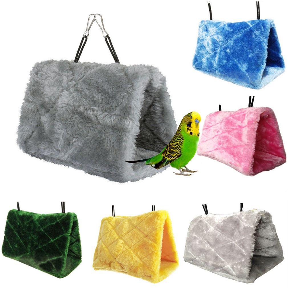 الحيوانات الأليفة الببغاء الطيور أرجوحة معلقة كهف قفص تكبب كوخ خيمة سعيد سرير بطابقين لعبة