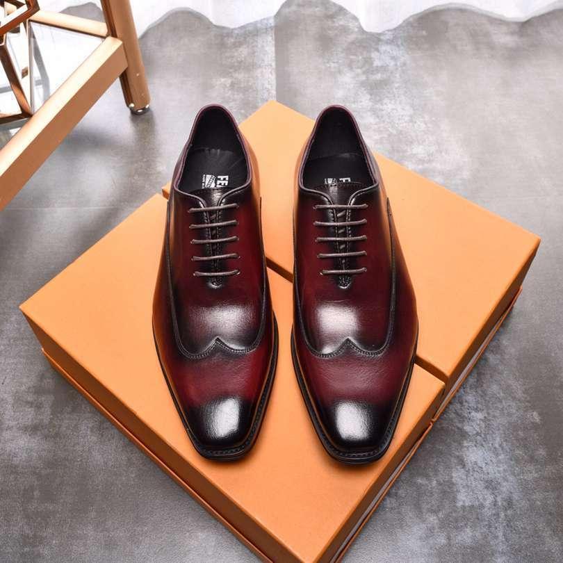 Zapatos de vestir de los hombres a Inglaterra formal ocasional de los hombres ocasionales de la boda plana frenillo