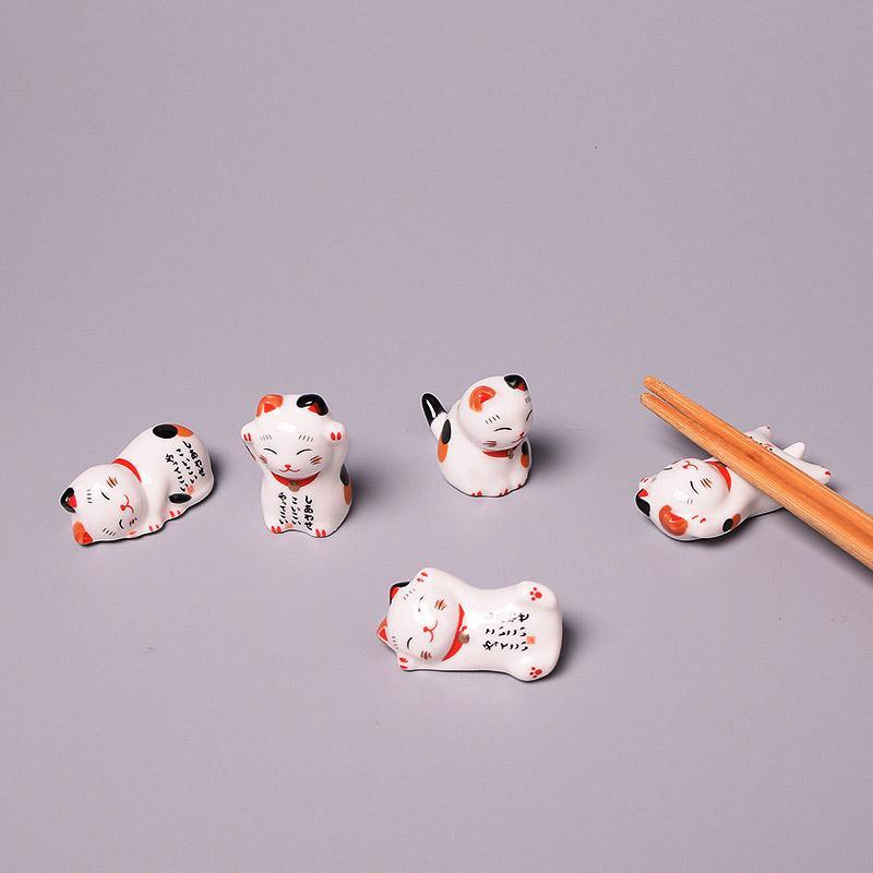 Finanziari Cat bacchette animali creativi e carino stand bacchette di sostegno del fumetto Penna giapponese su Home