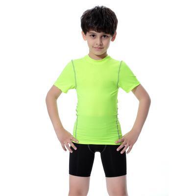 Tank Top Koşu Yüksek Kalite Hızlı Kuru Çorapları Çocuk Kostüm Spor Spor O yaka Kısa Kollu Çocuk Erkekler ve Kızlar Jersey