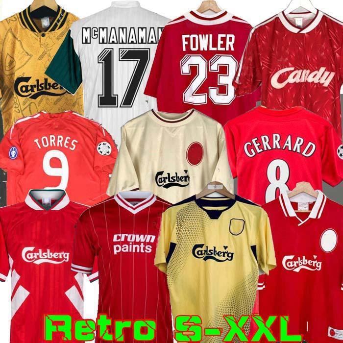 04 05 Retro Soccer Jersey Gerrard 1982 FOWLER DALGLISH FOOLD SHORTS Torres 1989 Maillot 06 07 Barnes 08 09 Rush 97 95 96 93 Mcmanaman 85