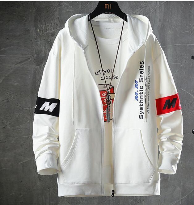 sciolti sport utensili da uomo primavera e autunno marca di marea di giacca con cappuccio giapponese più grasso giacca grasso casuale XL