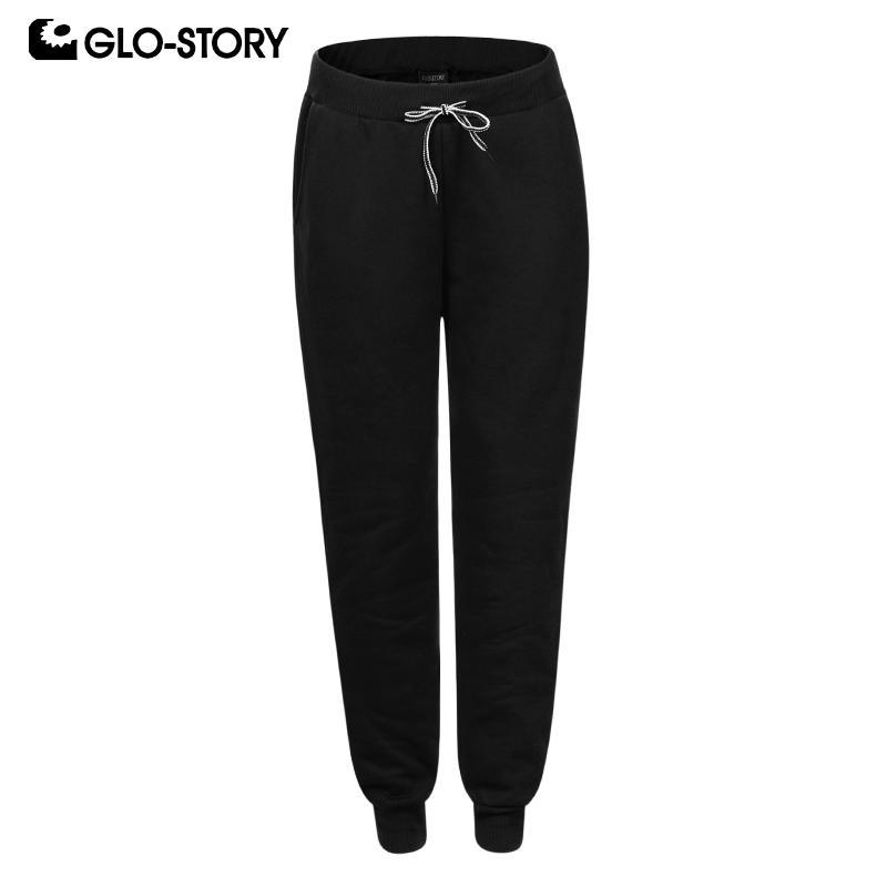 GLO-STORY Casual Solid Basic Men Sweatpants Drawstring Waist Scalp Pants Male Long Pants Men's Trousers 2019 Winter New MRT-8374