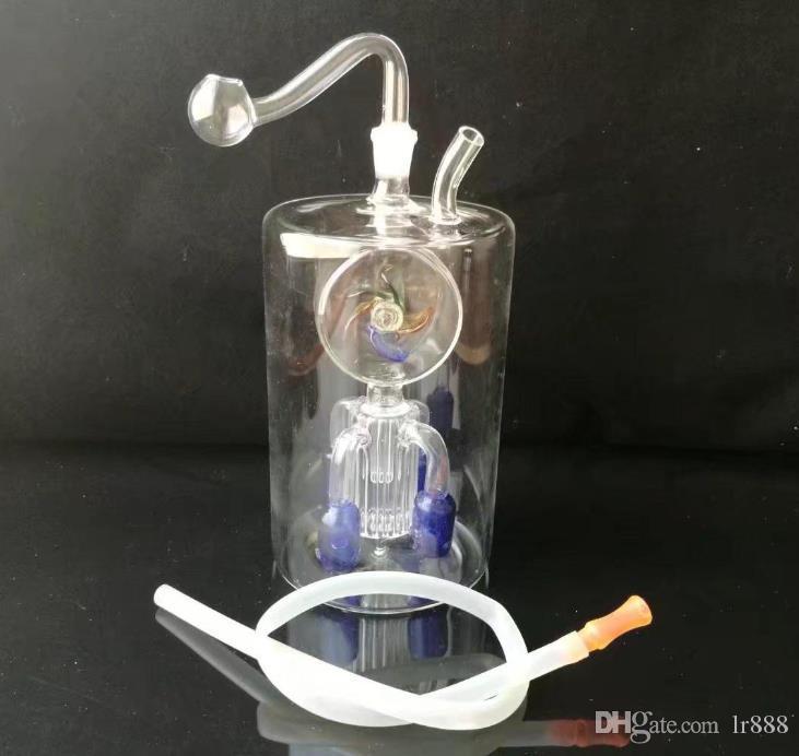 Moulin à vent Hookah gros verre de brûleur à huile en verre Tubes de tuyaux d'eau Rigs huile fumeurs Livraison gratuite