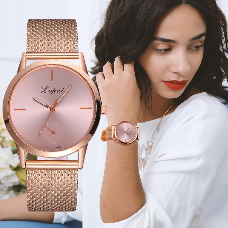 Fashion Alloy Belt Mesh Watch Unisex women's watches Minimalist Style Quartz Watch relogio feminino Watch for women reloj mujer