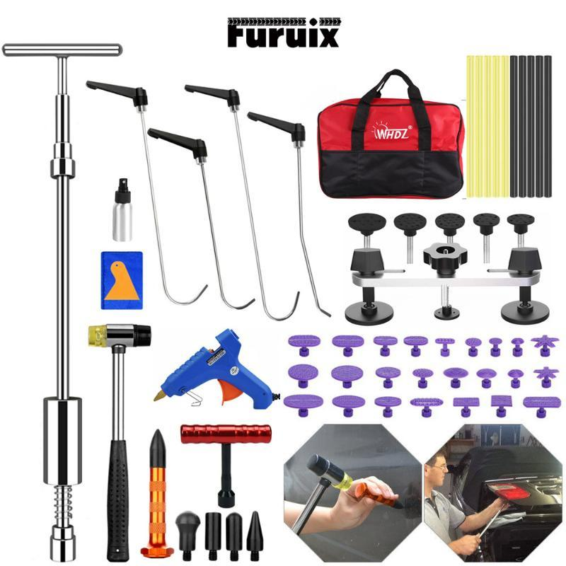 FURUIX Paintless Dent Repair Push-Rods PDR Werkzeuge Pullerliftung Line Board Entfernen TOOLSKIT