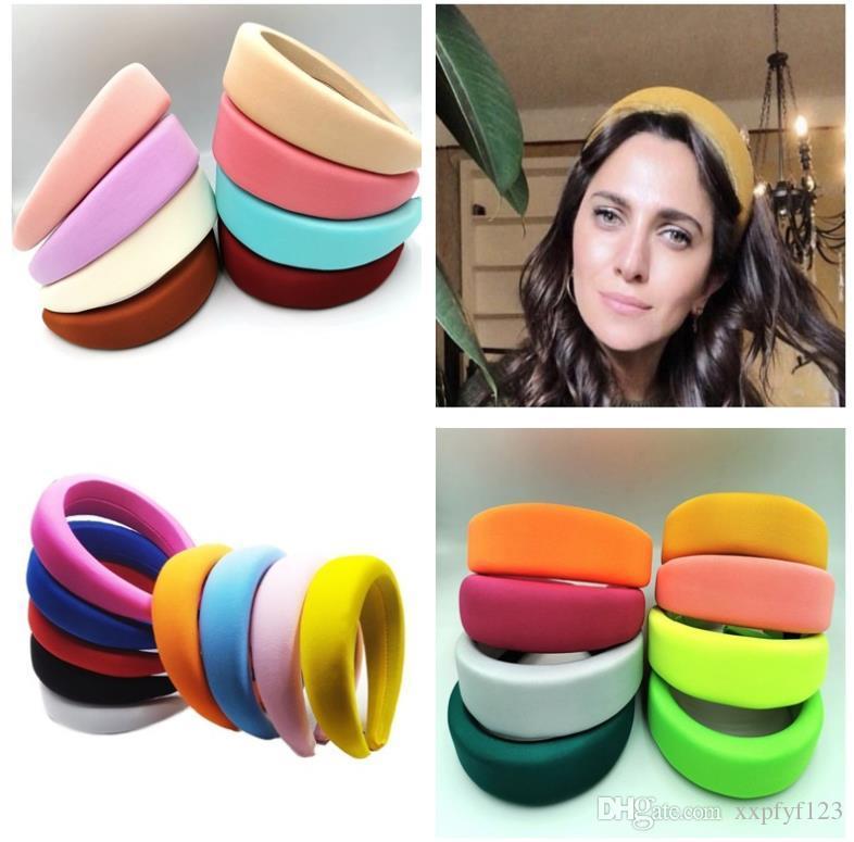 Faixa de cabelo puro Esponja anel headband doce cor flanela Cabelo Scrunchie com multi-cor jóias artesanais acessórios FZP230