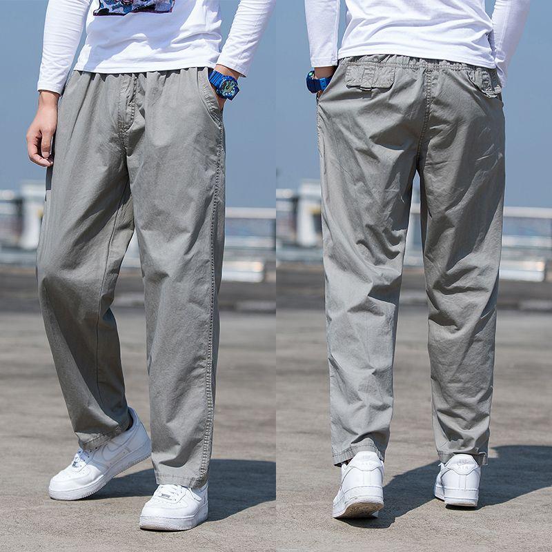 Compre Pantalones Para Hombres Pantalones Tacticos Verano Elastico De Carga Hombres De La Tela Delgada Pantalones Holgados Pantalones Caqui Estilo Safari 6xl A 17 36 Del Bairi Dhgate Com
