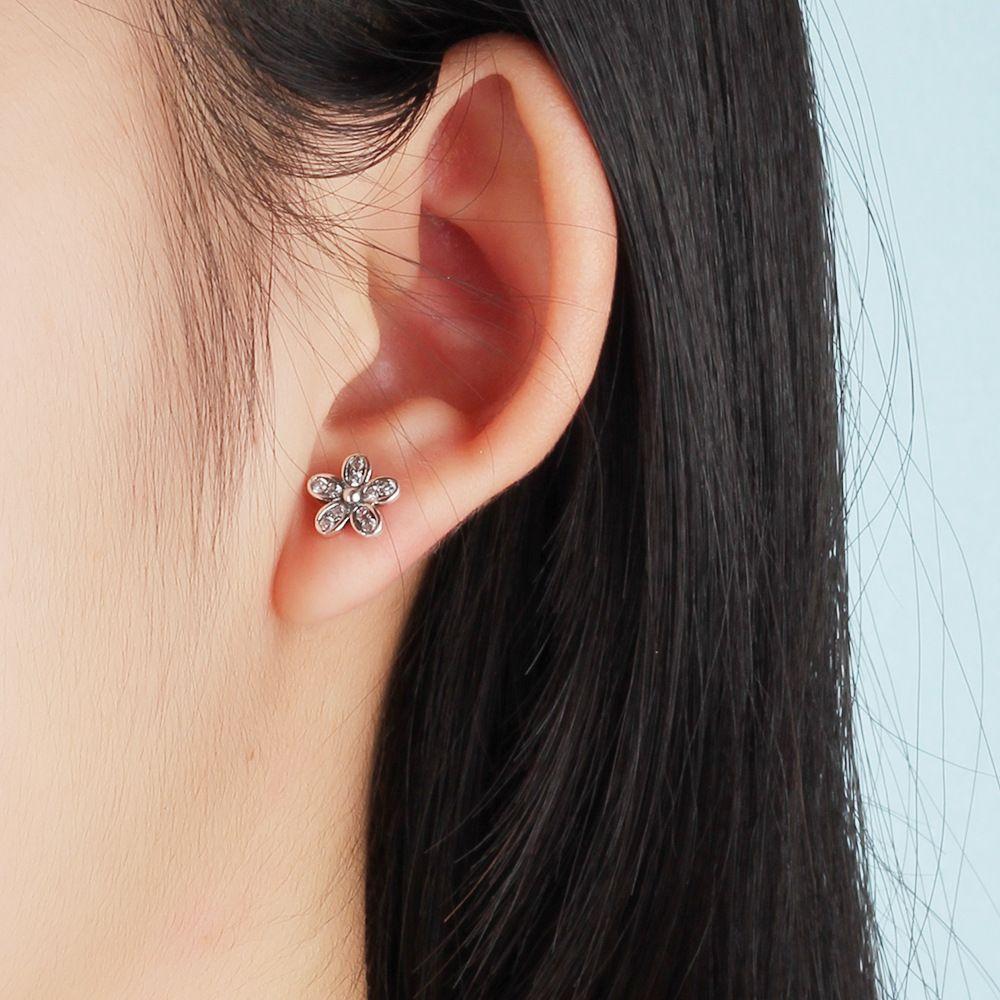 Heiße Neue Hohe Qualität S925 Silber Ohrringe Blume Zirkon Ohrringe Für Mode Frauen Tragen Und Liebhaber Geschenk Mlsf01 J190721
