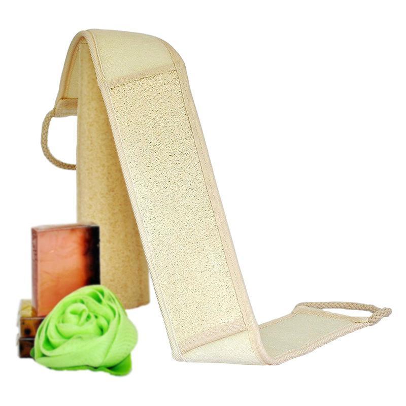 Luffa Dusche Streifen Bad langer Gürtel Hautmassage Luffa zurück Badetuch Handtuch-Kürbis Schwamm natürliche Wäscher exfoliator