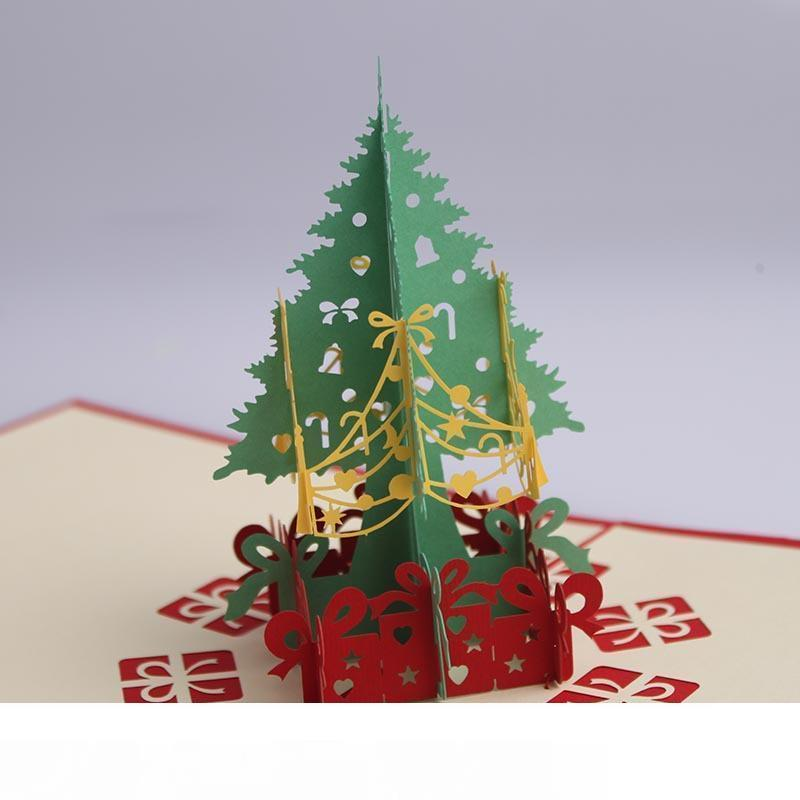 Christmas Paper Gift 3d Stereo Greeting Card Christmas Tree Birthday Blessing Card Handmade Happy New Year Greeting Business Card Dh0100 Customized Greeting Cards Cute Greeting Cards From Gefei01 4 83 Dhgate Com