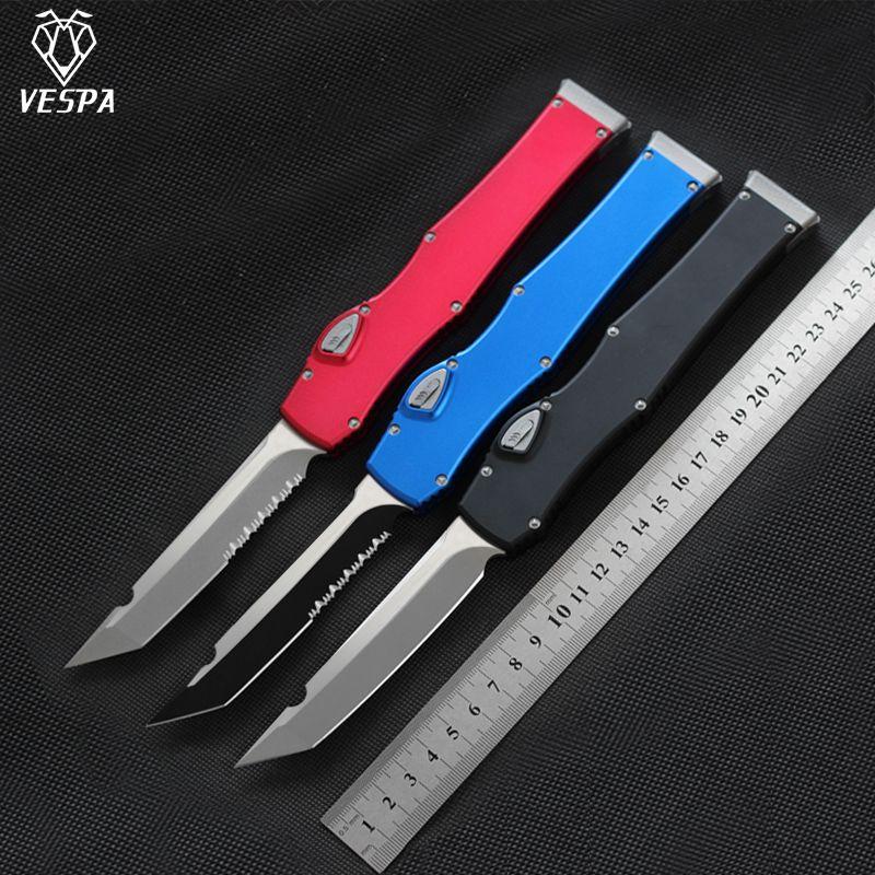 VESPA Versiyon Bıçak Bıçak: D2 Kol: Alüminyum, EDC avı Taktik aracı akşam mutfak bıçağı açık sağkalım