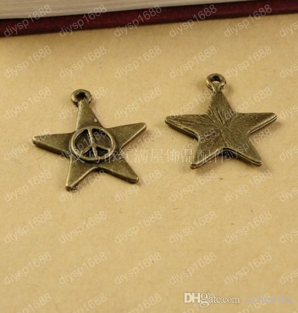 Peace Sign Star Charms