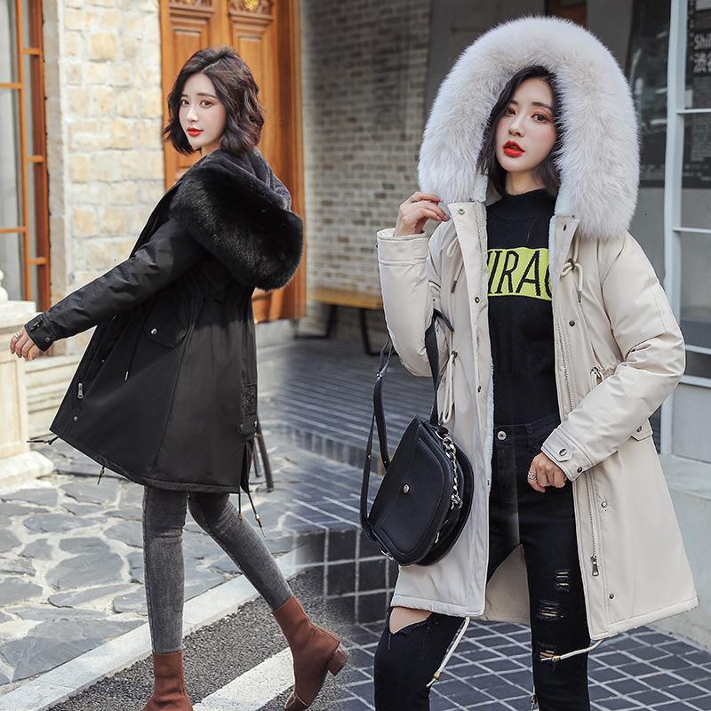 Fashion-Abrigos Mujer Invierno 2019 Winter Jacket Women Fur Cotton Padded Jacket Female Parka Womens Winter Coat for Woman