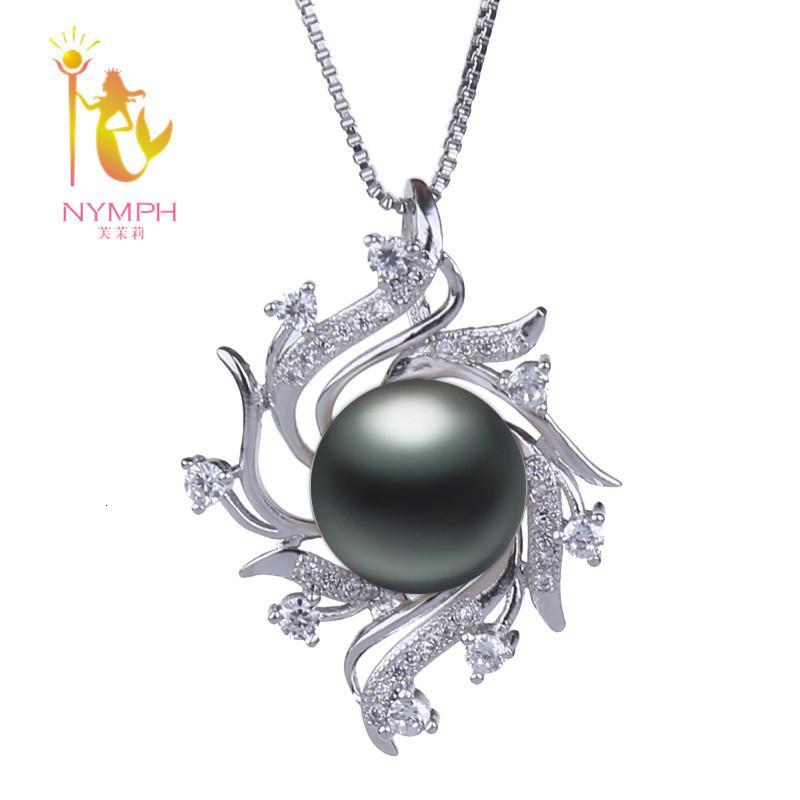Nymphe Naturel Collier de perles de perles d'eau douce Pendentif Juive Big 10-11mm Fête de mariage Fine Pour Femmes Girld220 S18101308
