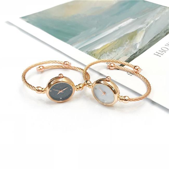 2019 Orologio Regalo per stile di cristallo della retro lega delle signore delle donne in acciaio inox orologi del quarzo del Giappone Analogo Movimento Donne all'ingrosso Clock