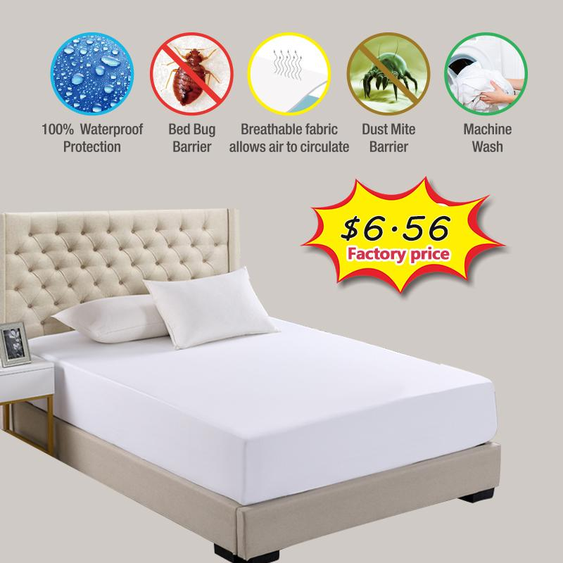 Waterproof Mattress Cover Bed Topper Bug Dust Mite Pad Protector Bedspread Sheet