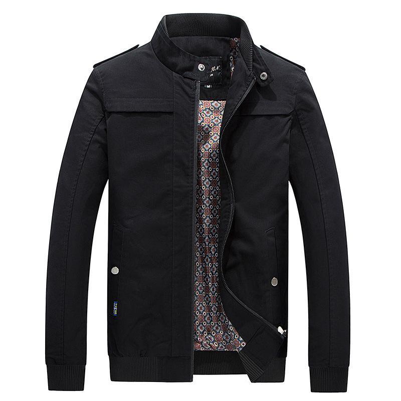Pure jaqueta de algodão lavagem Adolescente Trench Brasão Casual HOMENS Jacket Jacket Luz homens