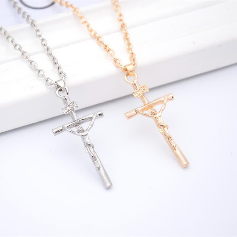 explosion de bijoux transfrontaliers européens et américains chaude vendre Jésus-Christ croix Collier chaîne de la clavicule ps0302