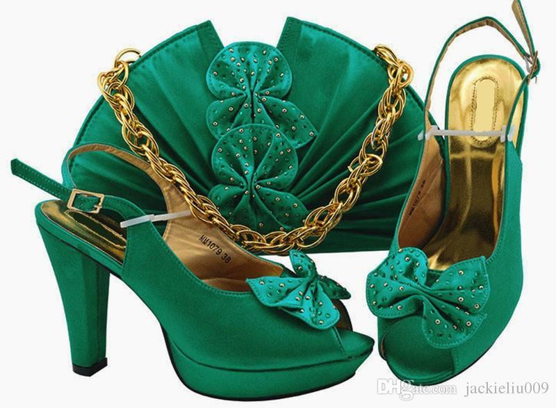Buen venta de bombas y bolsas de color verde azulado con diseño de mariposa zapatos africanos Match Bolso para vestido MM1079, Talón 11.5cm