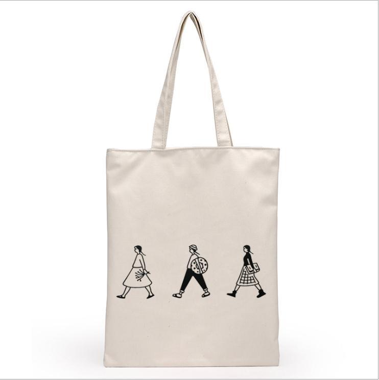 디자이너-여성 남성 핸드백 캔버스 토트 백 재사용 코튼 식료품 쇼핑 가방 Webshop 에코 접이식 쇼핑 카트 트롤리 무료 선박