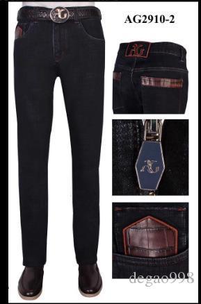 Ang * elo Galasso 2020 Jeans der Männer neue schwarze Baumwollstickerei und weise beiläufige Hosen großen Code Gezeiten