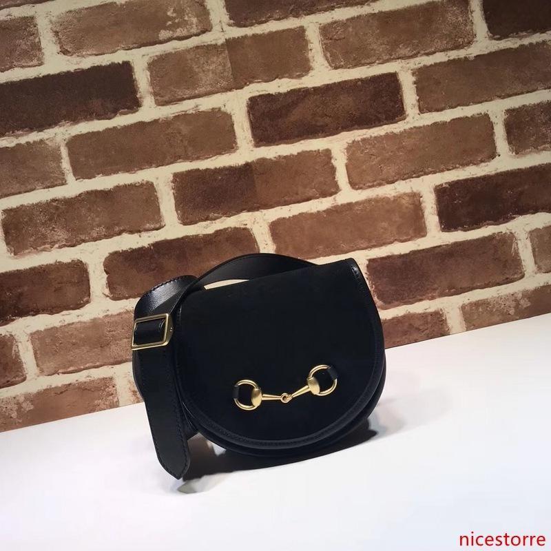 2020 disegno superiore di marca Lettera Buckle goffratura spalla Mini Cluth Fashion Bag Donne Vera Pelle 384.820 Borsa Crossbody