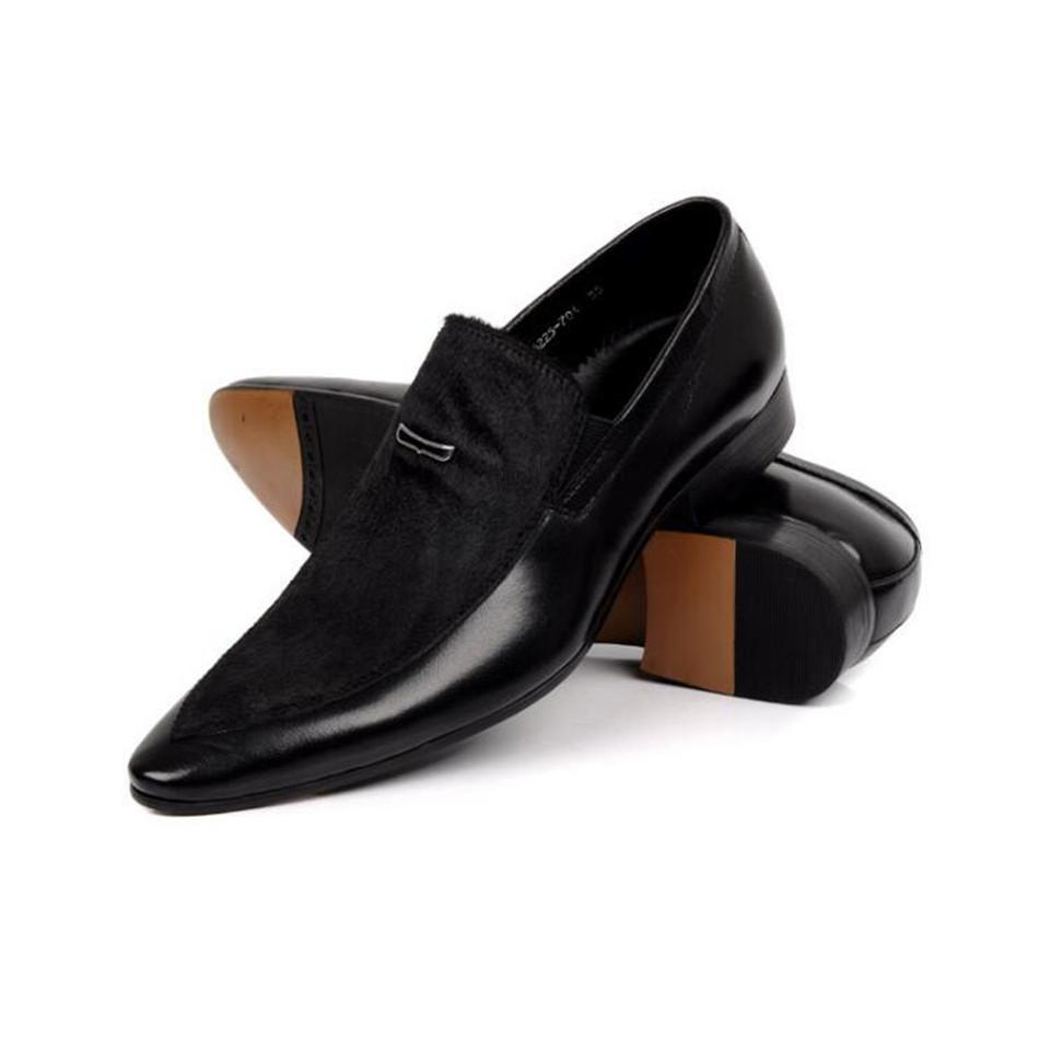 2019 sapatos de couro dos homens dos homens casuais Designers Sapato de alta qualidade sapatos masculinos de festa zapatillas hombre moda Preto masculino Oxford sapatos