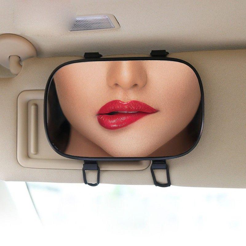 New Car Sunshade Vanity Mirror Portable Adjustable Sun Visor HD Cosmetic Mirror Car Interior Accessories Makeup For Women