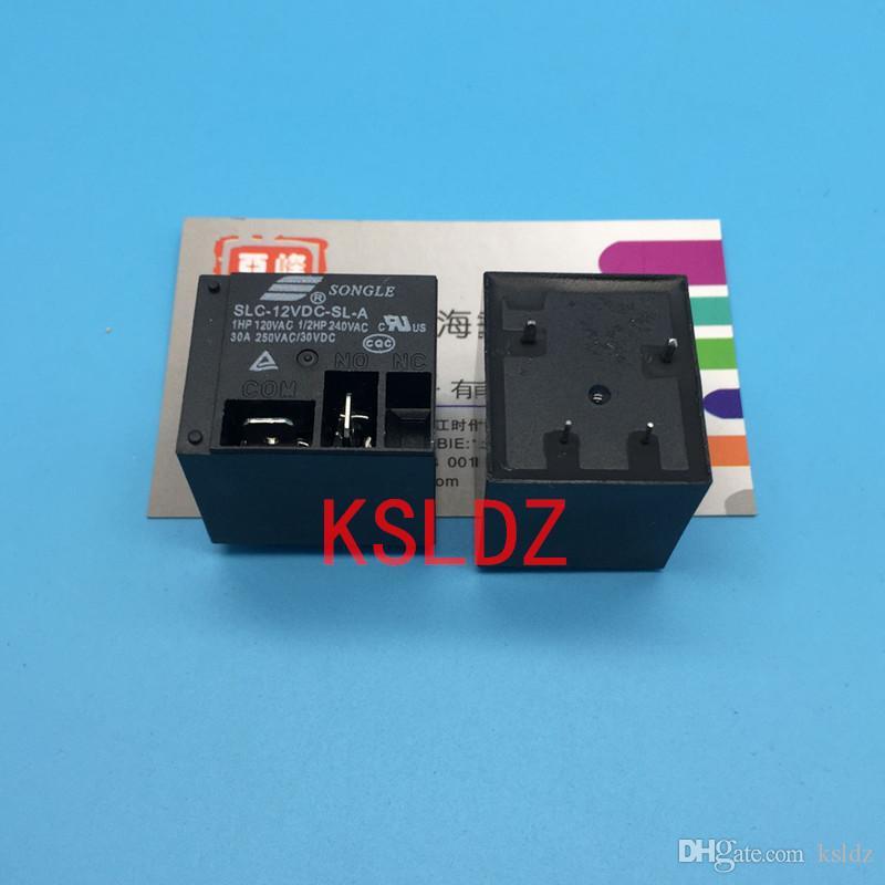 Freies Verschiffen Los (5pieces / lot) Original New SONGLE SLC-12VDC-SL-A SLC-24VDC-SL-A 4-polig 12V 24V 30A250VAC Leistungsrelais