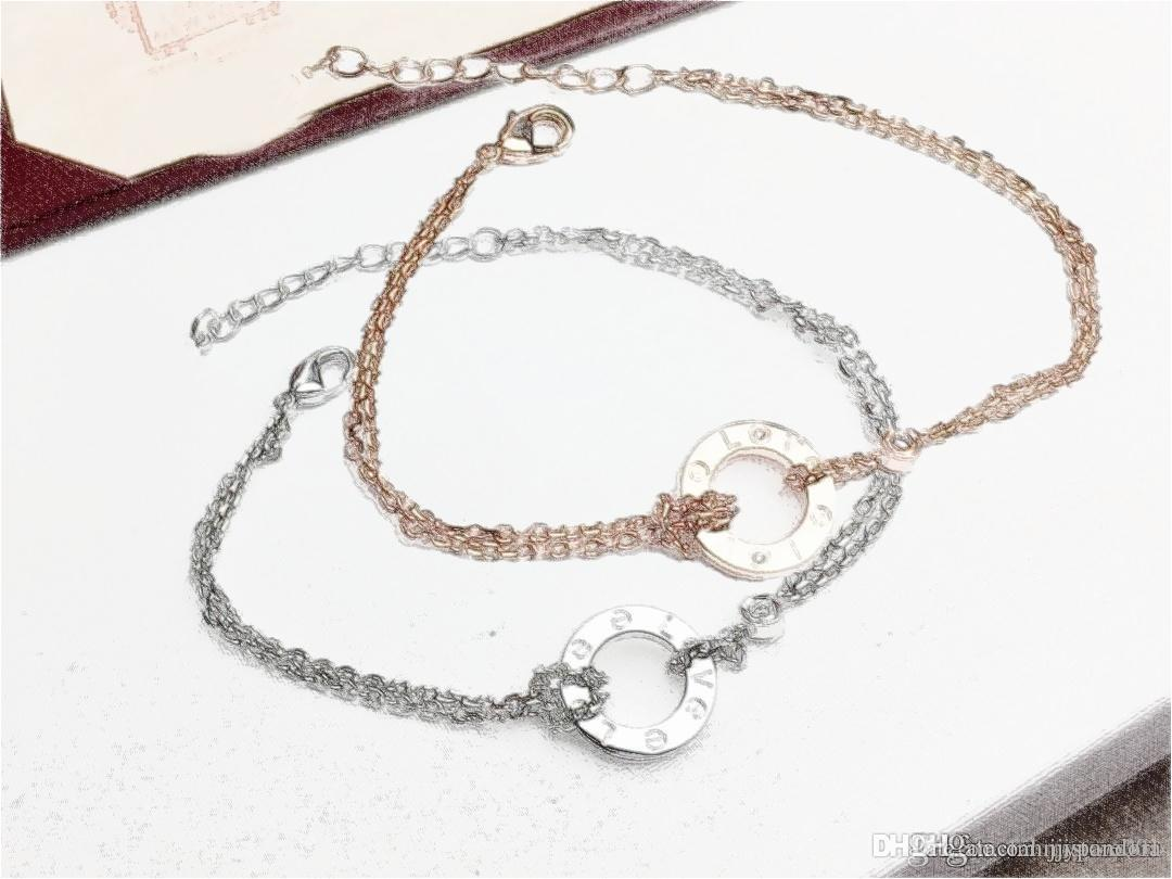 Al por mayor Envío DONIA clásico AMOR Pequeño anillo doble Pulsera de oro de la belleza Pseudo genuino de encargo chapado en oro 18k Craft gratuito