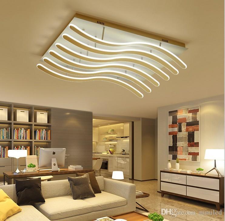 Moderna sala de estar Luminárias de teto Luminárias LED Luminárias de teto Iluminação de teto Iluminação de casa nórdica Luminárias de teto LLFA
