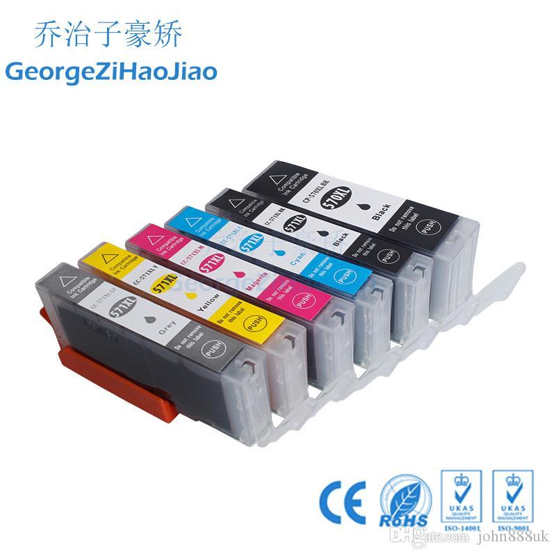 ZH 6 ADET Mürekkep Kartuşları 570XL 571XL Canon PGI570 CLI571 için Uyumlu Pixma Set MG5750 MG5751 MG5752 MG5753 Yazıcı