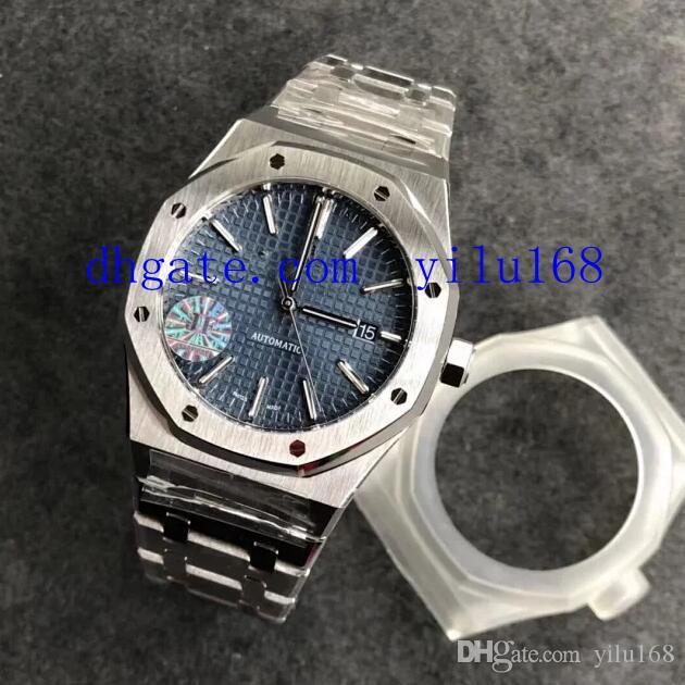 41 мм Мужская JF Factory V5 Обновление автоматической Miyota 9015 CAL.3120 Синий циферблат полный 904L стальные часы погружения JF наручные часы