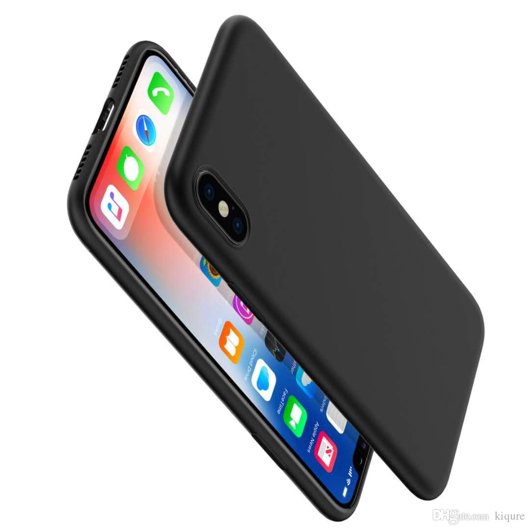 Luxury Leather Soft Gel Rubber Matte Cover frosted texture Phone shell Case For iPhone X/XS 6S 7/8plus samsung s9 plus note8 s8/plus Cases