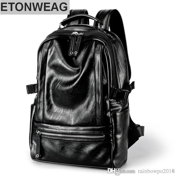 Оптовая продажа фабрики мужской моды мягкой кожи мужской рюкзак на открытом воздухе отдыха большой емкости Корейский плечо Рюкзак
