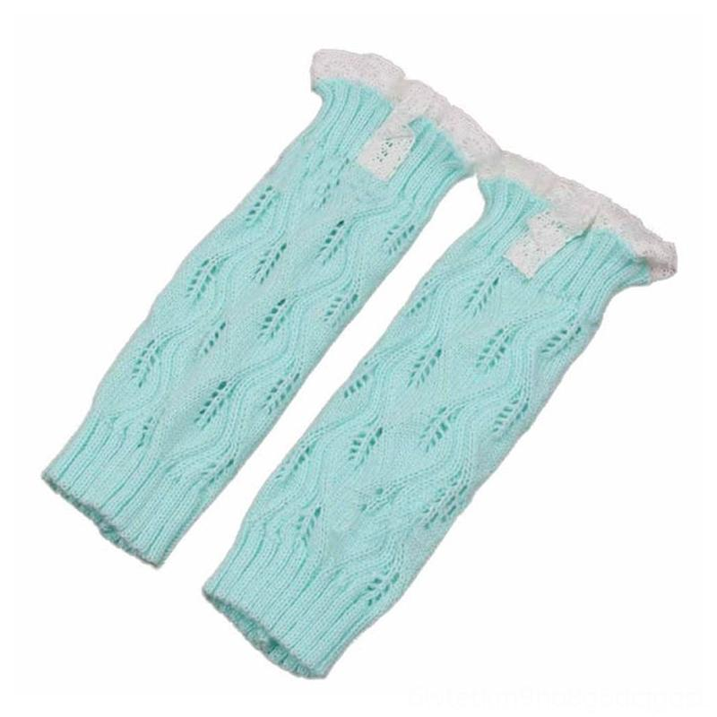 Fashion Kids Girl's Crochet Knitted Pants Baby & Kids Clothing Leaf Lace Trim Boot Cuffs Toppers Leg Warmers Socks FJ88