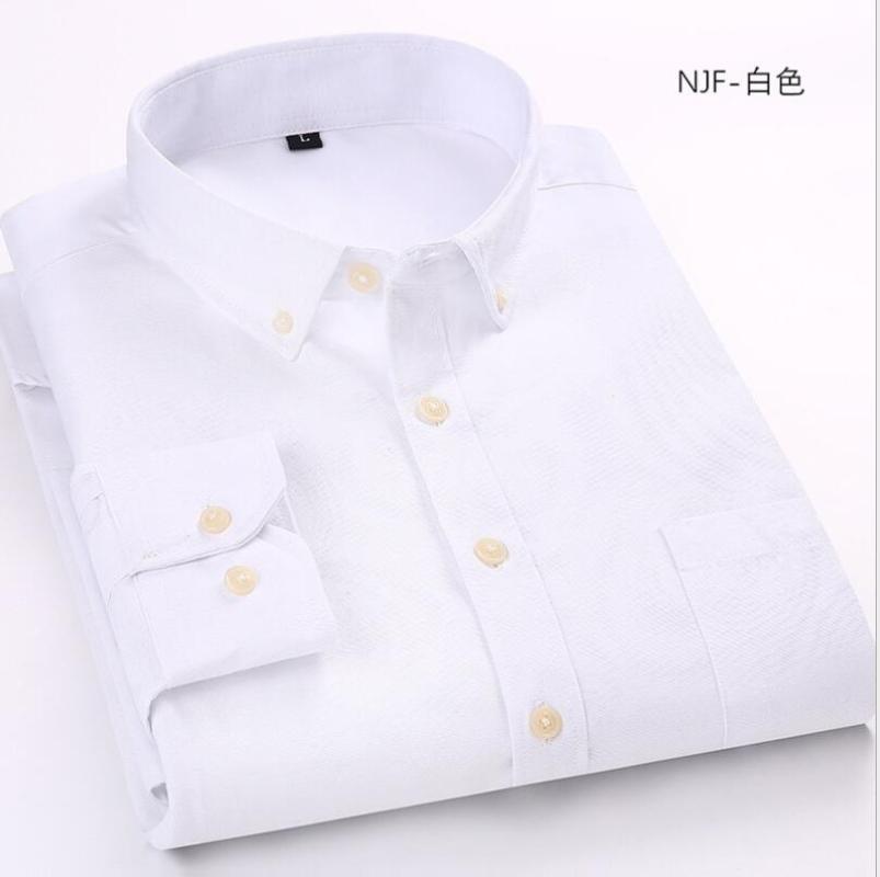 ZNG Мужчины платье рубашка с длинным рукавом Тонкий Мужчины рубашки высокого качества Твердые Мужчины Одежда Fit Бизнес Рубашки