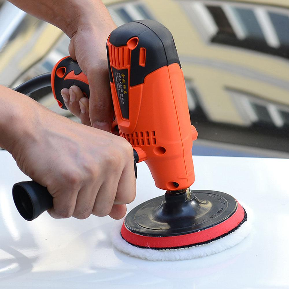 800W Buffer Car Polisher Electric Car Polisher Waxer Variable Speeds Tool Household Waxing Polishing Machine