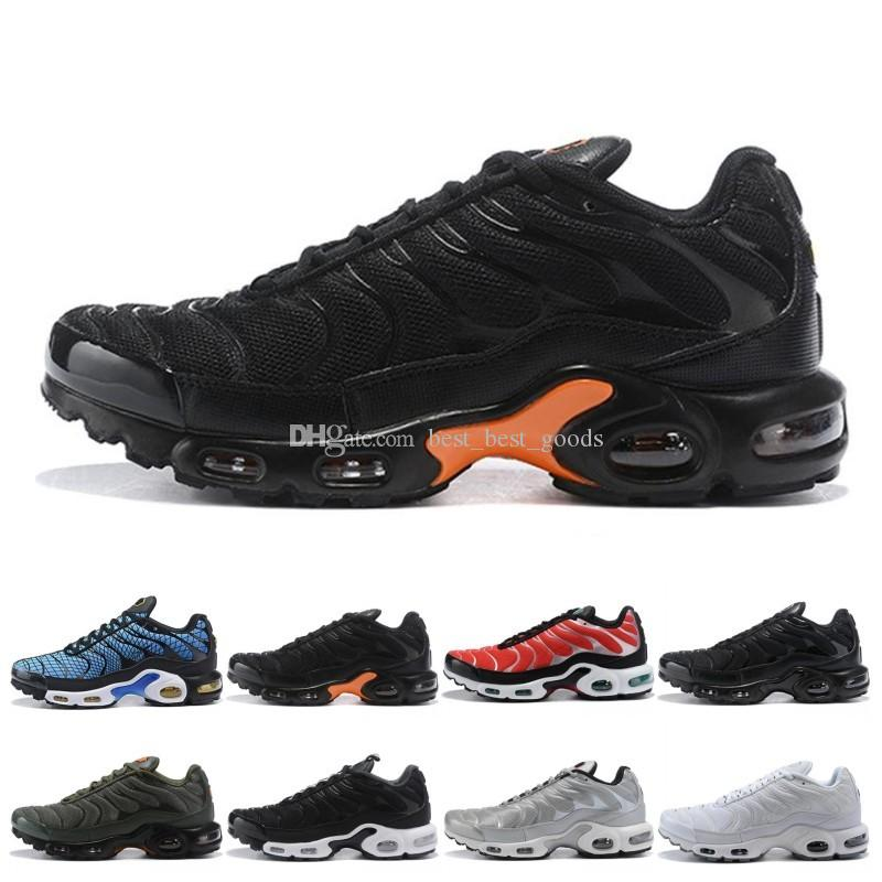 Tn Plus Men Women Running Shoes Run Sneakers Greedy Oreo Triple Black White Silver Bullet Mens Trainer Athletic Sport Size 40-45 Online Sale