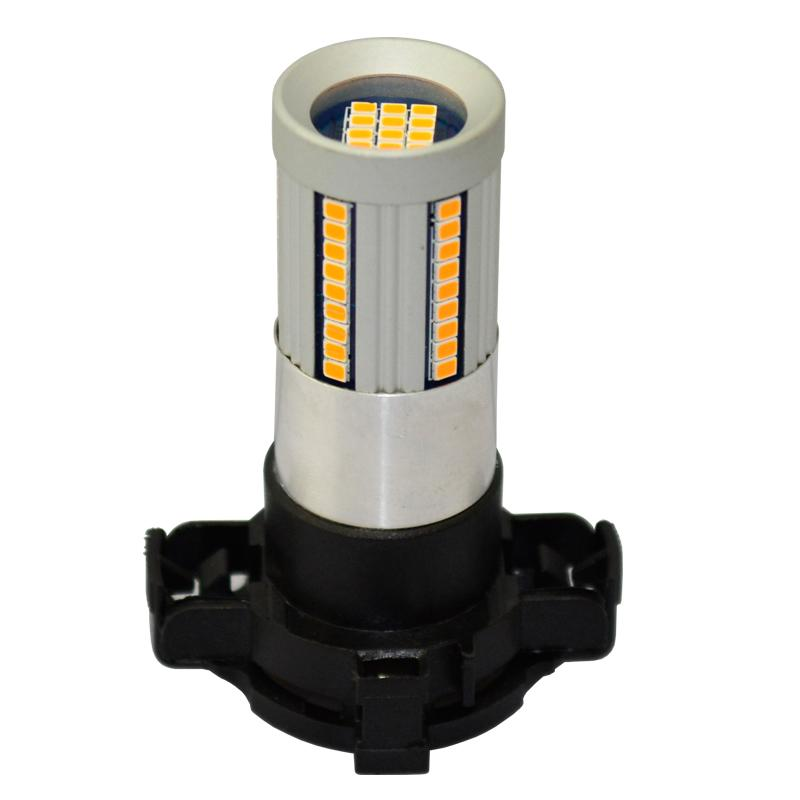 2pcs Canbus No Hyper Flash Amber Yellow PH24WY PY24W LED Bulbs
