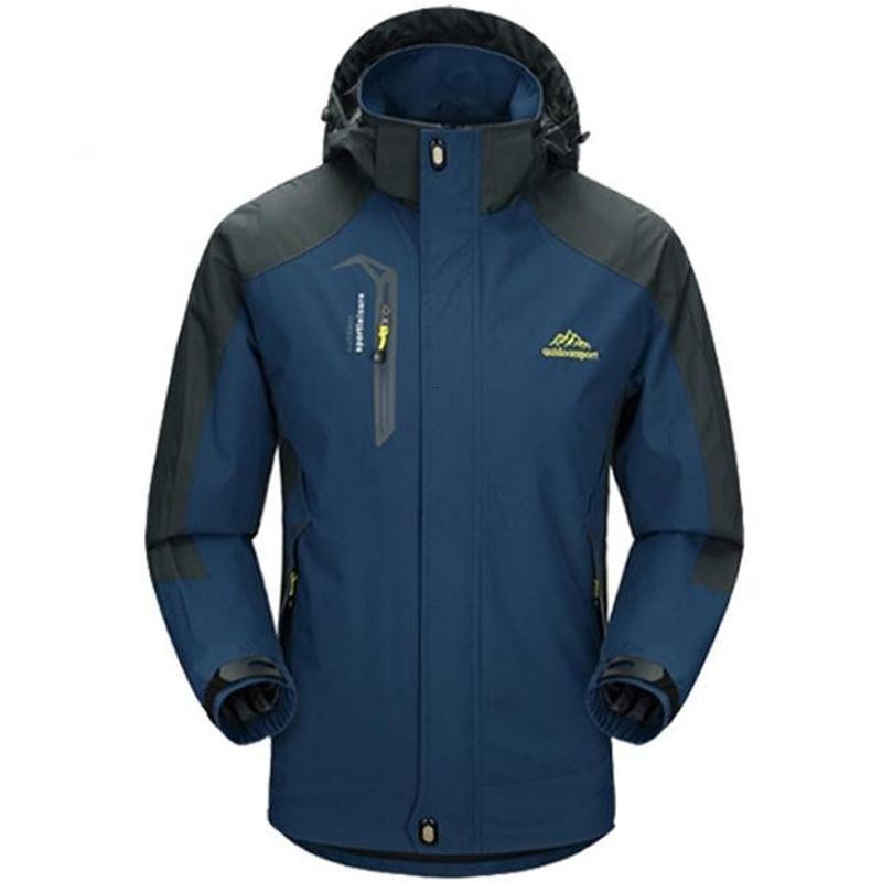 5XL Jacket Men Wasserdicht mit Kapuze Breath Herren Jacken und Mäntel Frühling Herbst Outwear Windjacke Mantel Männlich Armee Kleidung V191029