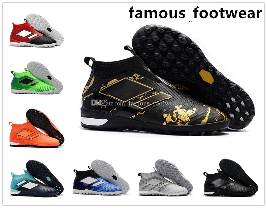 High quality Men's classic soccer cleats ACE Tango 17+ Purecontrol TF soccer shoes cheap football boots cleats football shoes