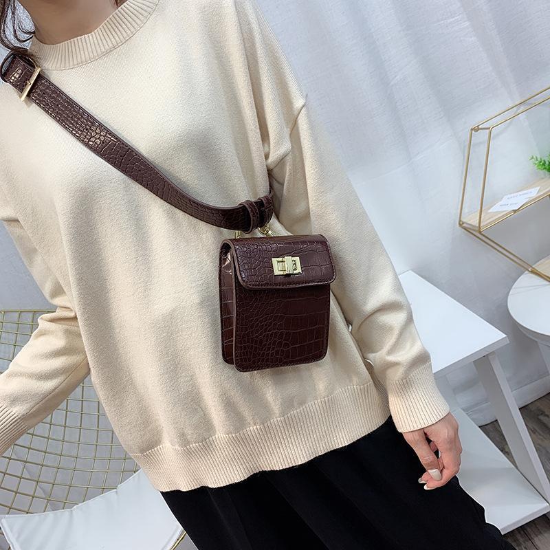 Bolsas de cocodrilo Pequeño hombro patrón de mujer bolsillos Mini bolsas simples Hombro Daily Messenger Moda Moda Teléfono Ktels